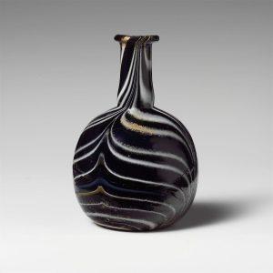 Glass mosaic perfume bottle